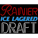 Rainier Ice Lager Red Draft Neon Beer Sign