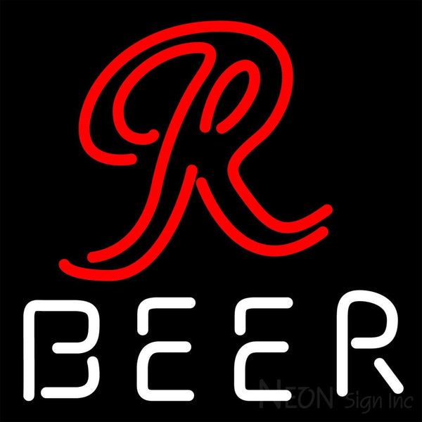 Rainier R Logo Neon Beer Sign 16x16