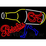 Rainier Walking R Bottle Neon Beer Sign