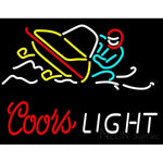 Red Coors Light Snowmobile Neon Sign