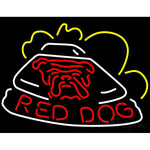 Red Dog Race Car Neon Beer Sign
