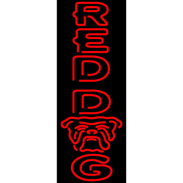 Red Dog Vertical Neon Beer Sign