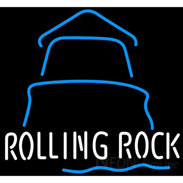 Rolling Rock Day Lighthouse Neon Beer Sign