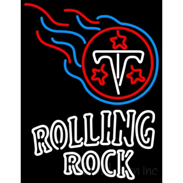 Rolling Rock Double Line Tennessee Titans NFL Neon Sign 1 0003