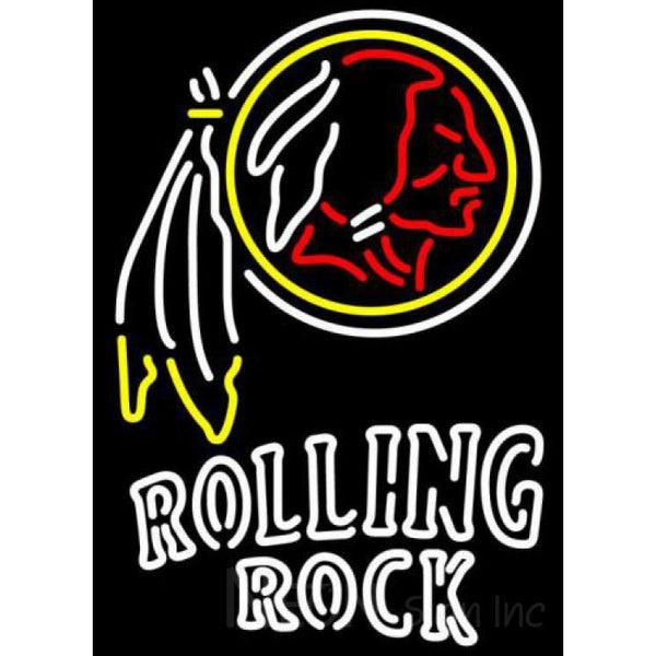 Rolling Rock Double Line Washington Redskins NFL Neon Sign 1 0024
