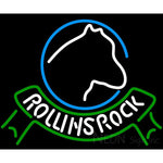 Rolling Rock Horse Head Ribbon Neon Beer Sign