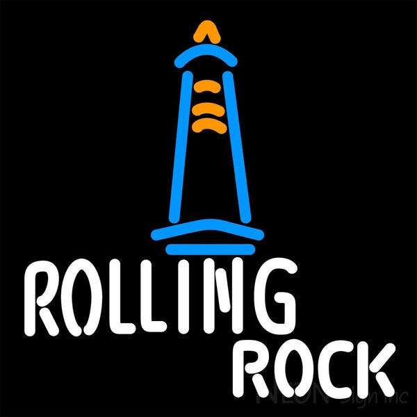 Rolling Rock Lighthouse Lounge Neon Beer Sign 16x16