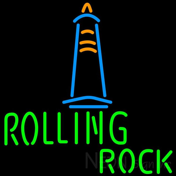 Rolling Rock Lighthouse Lounge Neon Beer Sign 24x24