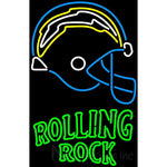 Rolling Rock San Diego Chargers NFL Neon Beer Sign
