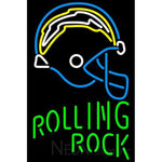 Rolling Rock Single Line San Diego Chargers NFL Neon Sign 3 0024