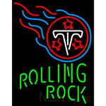 Rolling Rock Single Line Tennessee Titans NFL Neon Sign 1 0025