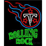 Rolling Rock Tennessee Titans NFL Neon Beer Sign