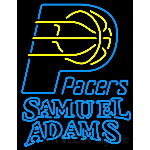 Samuel Adams Double Line Indiana Pacers NBA Neon Sign 2 0022