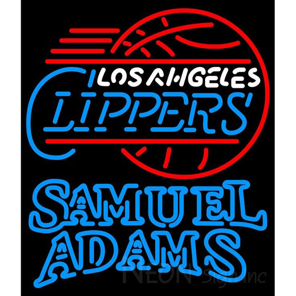 Samuel Adams Double Line Los Angeles Clippers NBA Neon Sign 2 0021