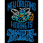 Samuel Adams Double Line New Orleans Hornets NBA Neon Sign 2 0021