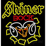 Shiner Bock Ram Neon Beer Sign