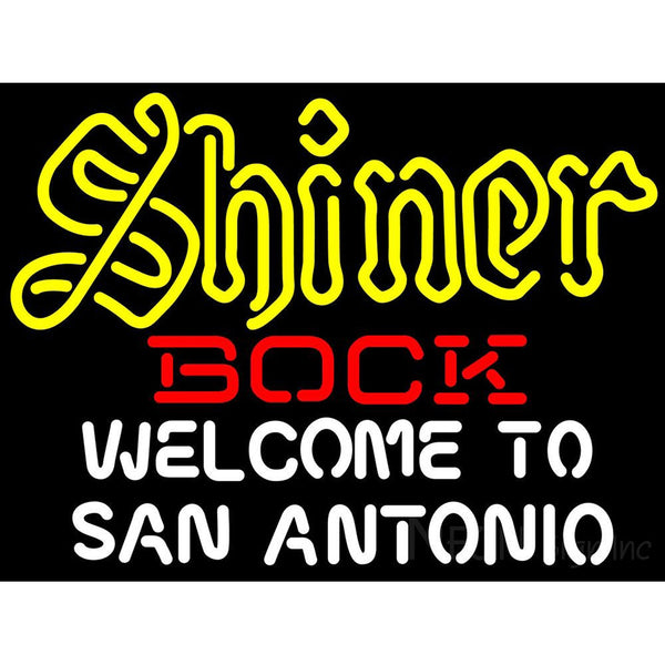 Shiner Bock Welcome To San Antonio Neon Beer Sign