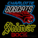 Shiner Charlotte Bobcats NBA Neon Beer Sign