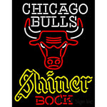 Shiner Chicago Bulls NBA Neon Beer Sign