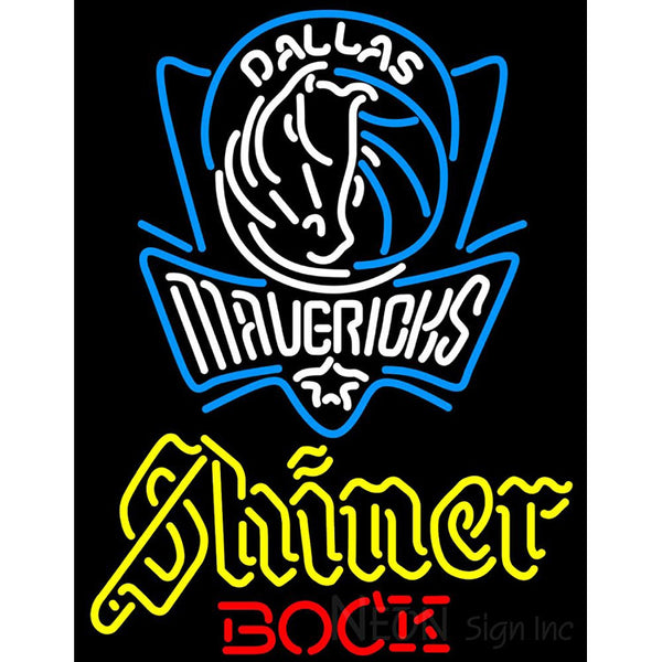 Shiner Dallas Mavericks NBA Neon Beer Sign