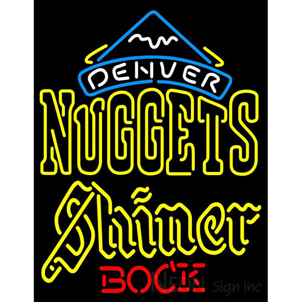 Shiner Denver Nuggets NBA Neon Beer Sign