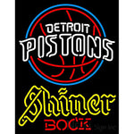 Shiner Detroit Pistons NBA Neon Beer Sign