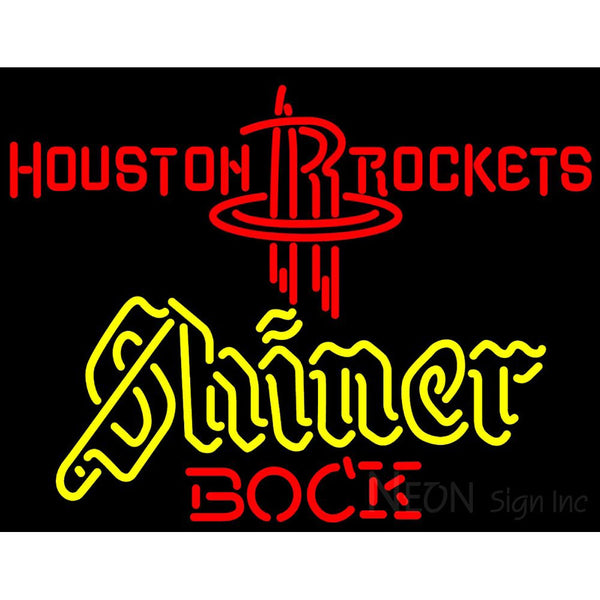 Shiner Houston Rockets NBA Neon Beer Sign