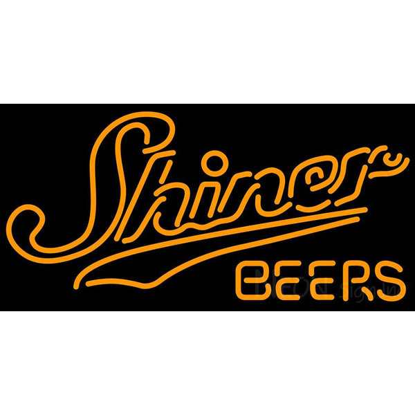 Shiner Logo Neon Beer Sign