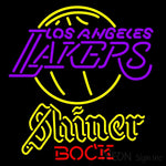 Shiner Los Angeles Lakers NBA Neon Beer Sign