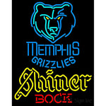 Shiner Memphis Grizzlies NBA Neon Beer Sign