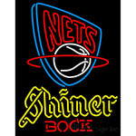 Shiner New Jersey Nets NBA Neon Beer Sign
