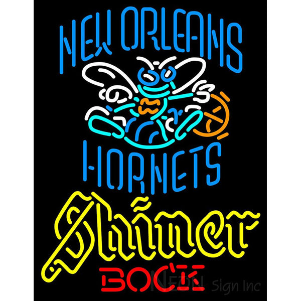 Shiner New Orleans Hornets NBA Neon Beer Sign