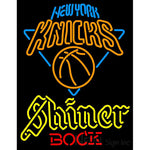 Shiner New York Knicks NBA Neon Beer Sign