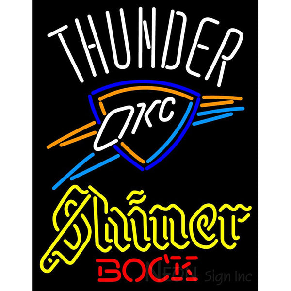 Shiner Oklahoma City Thunder NBA Neon Beer Sign
