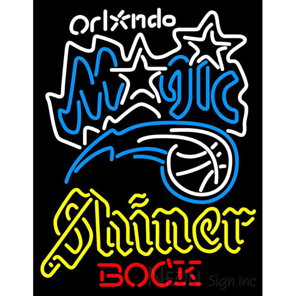 Shiner Orlando Magic NBA Neon Beer Sign