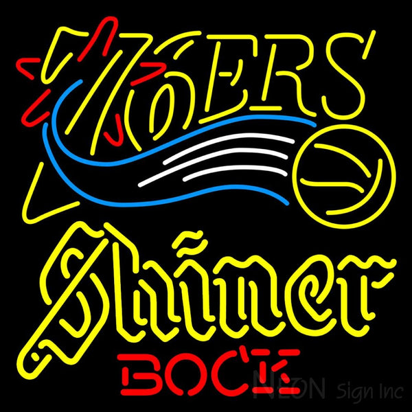 Shiner Philadelphia 76ers NBA Neon Beer Sign
