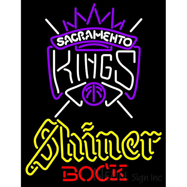 Shiner Sacramento Kings NBA Neon Beer Sign