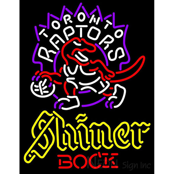 Shiner Toronto Raptors NBA Neon Beer Sign