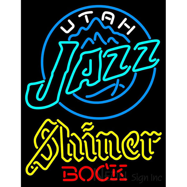 Shiner Utah Jazz NBA Neon Beer Sign