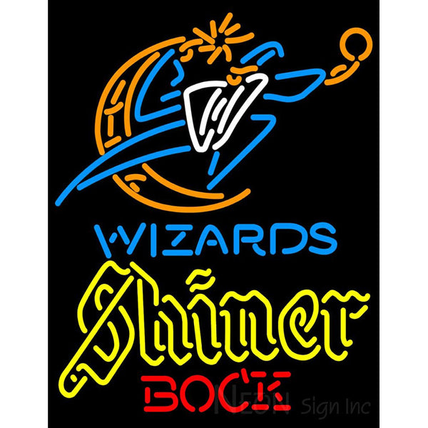 Shiner Washington Wizards NBA Neon Beer Sign