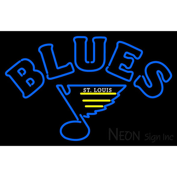 St Louis Blues Primary 1984 85 1986 87 Logo  NHL Neon Sign