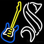 Steinlager Yellow Guitar Neon Sign 16x16