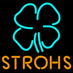 Strohs Clover Neon Beer Sign 16x16