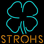 Strohs Clover Neon Beer Sign 24x24