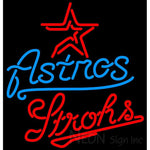 Strohs Houston Astros MLB Beer Neon Sign 23x24
