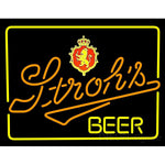 Strohs Lighted Neon Beer Sign