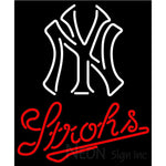 Strohs New York Ny MLB Beer Neon Sign