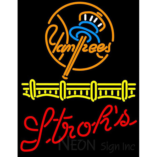 Strohs New York Yankees Neon Sign