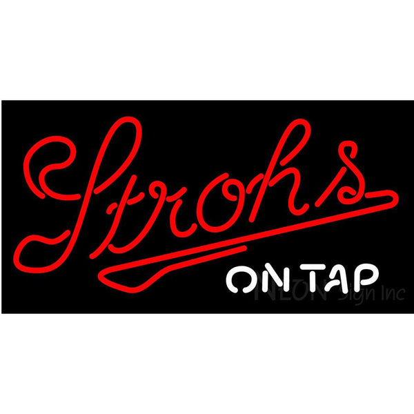 Strohs On Tap Neon Beer Sign