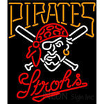 Strohs Pittsburgh Pirates MLB Beer Neon Sign